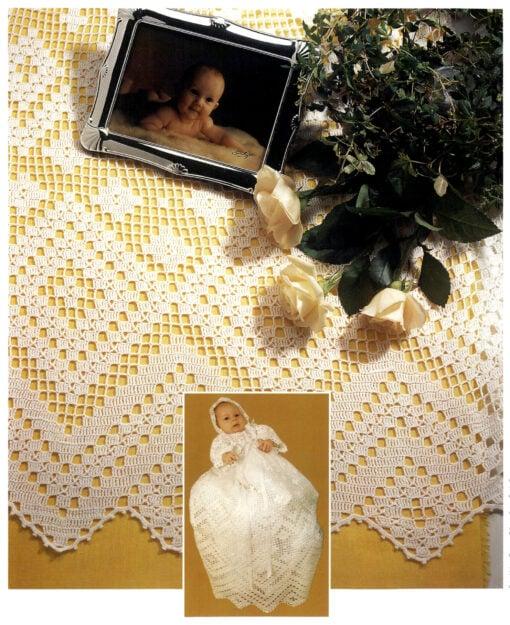 Dåpskjole med lue - Hb 8702