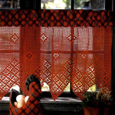 Gardinkappe med spindelkant - Hi 9411