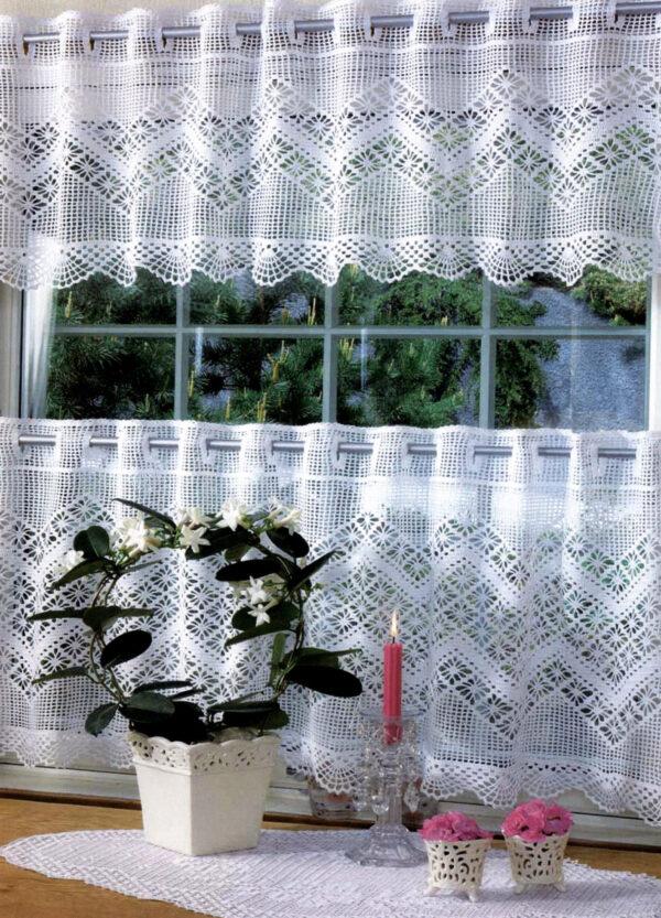 Gardinkapper med spindelmønster - Hi 0703